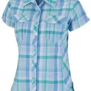 Columbia Camp Henry Short Sleeve Shirt Women Vaaleansininen L