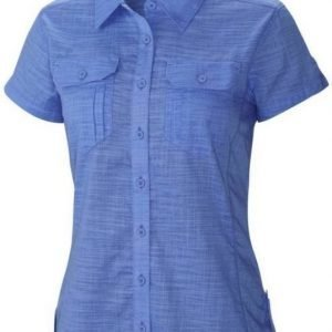 Columbia Camp Henry Solid Short Sleeve Shirt Women Sininen L
