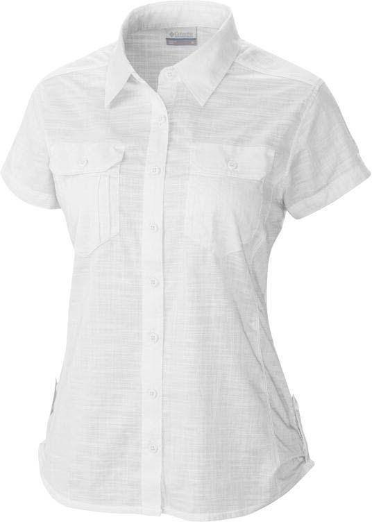 Columbia Camp Henry Solid Short Sleeve Shirt Women Valkoinen L