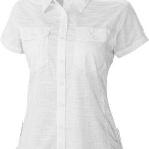 Columbia Camp Henry Solid Short Sleeve Shirt Women Valkoinen M
