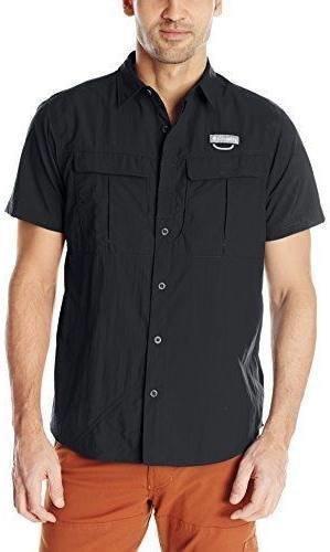 Columbia Cascades Explorer Short Sleeve Shirt Musta XXL