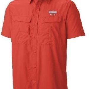 Columbia Cascades Explorer Short Sleeve Shirt Punainen L