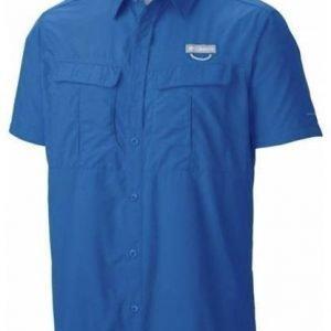 Columbia Cascades Explorer Short Sleeve Shirt Sininen XXL