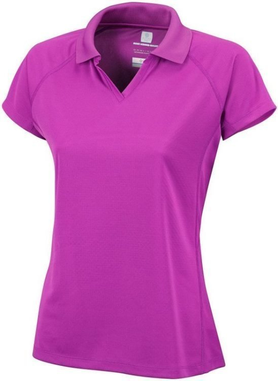 Columbia Cool News SS Polo Women Lila XL