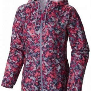 Columbia Flash Forward Printed Windbreaker Women Pink M