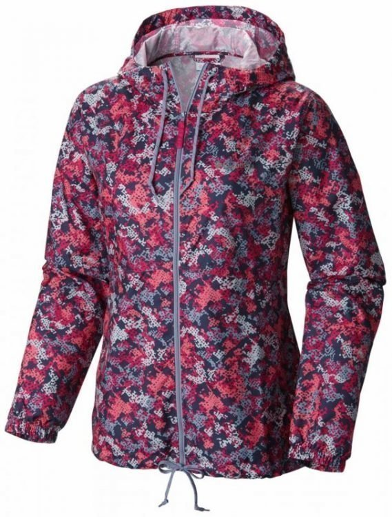 Columbia Flash Forward Printed Windbreaker Women Pink XL