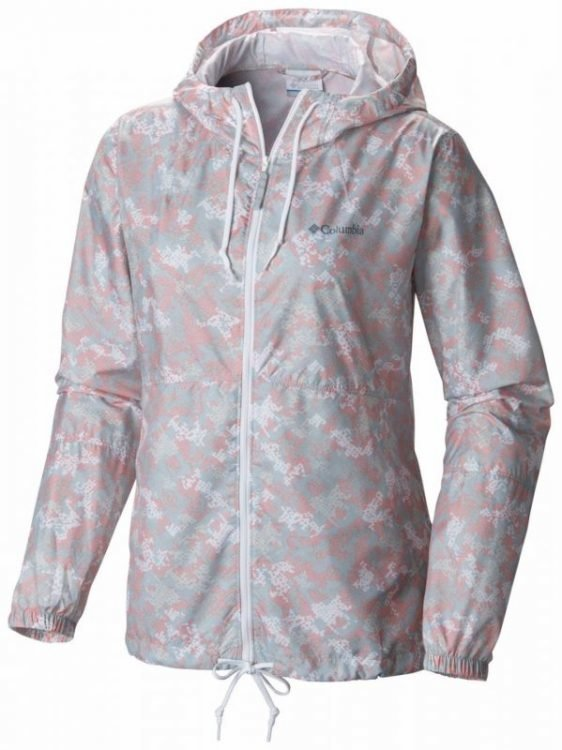 Columbia Flash Forward Printed Windbreaker Women Vaaleanpunainen XL