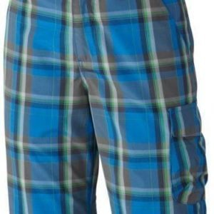 Columbia Silver Ridge III Boys Plaid Short Sininen XXS