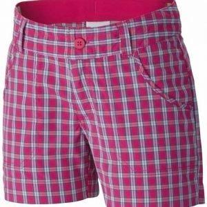 Columbia Silver Ridge III Girls Plaid Short Pink XL
