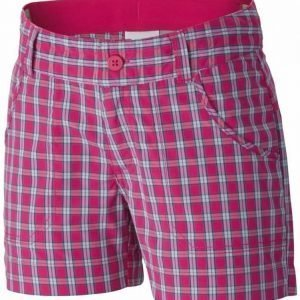 Columbia Silver Ridge III Girls Plaid Short Pink XS