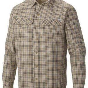 Columbia Silver Ridge Plaid Long Sleeve Shirt Beige L