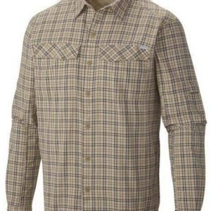 Columbia Silver Ridge Plaid Long Sleeve Shirt Beige M