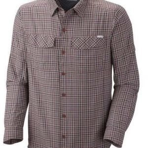 Columbia Silver Ridge Plaid Long Sleeve Shirt Tummanpunainen M