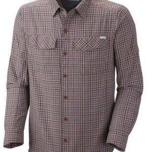Columbia Silver Ridge Plaid Long Sleeve Shirt Tummanpunainen M