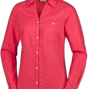 Columbia Women's Coastal Escape Long Sleeve Shirt Punainen XL