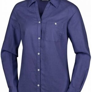 Columbia Women's Coastal Escape Long Sleeve Shirt Tummansininen XL