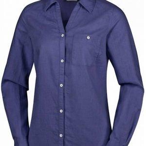 Columbia Women's Coastal Escape Long Sleeve Shirt Tummansininen XS