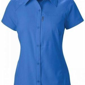 Columbia Women's Silver Ridge S/S Shirt Tummansininen XL