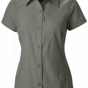 Columbia Women's Silver Ridge S/S Shirt Tummanvihreä L