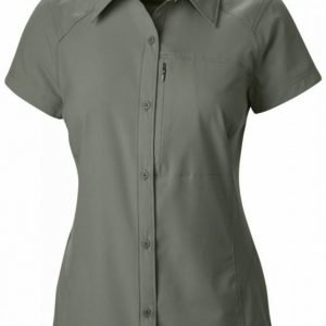 Columbia Women's Silver Ridge S/S Shirt Tummanvihreä XL