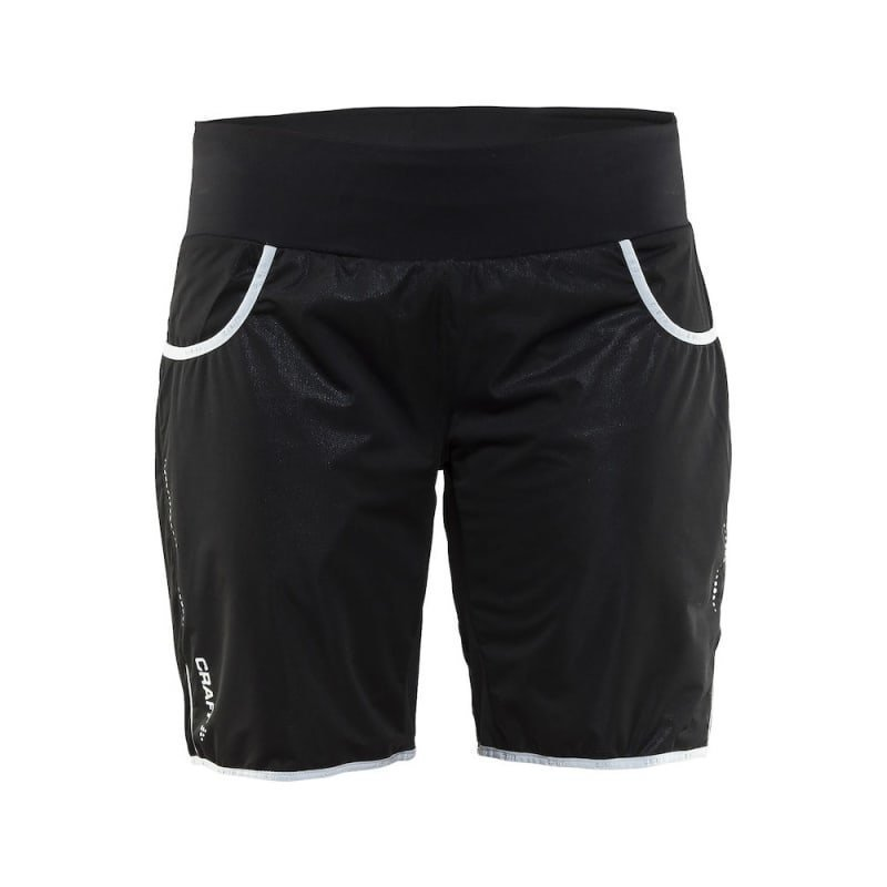 Craft Cover Warm Shorts Women's S Black/Silver