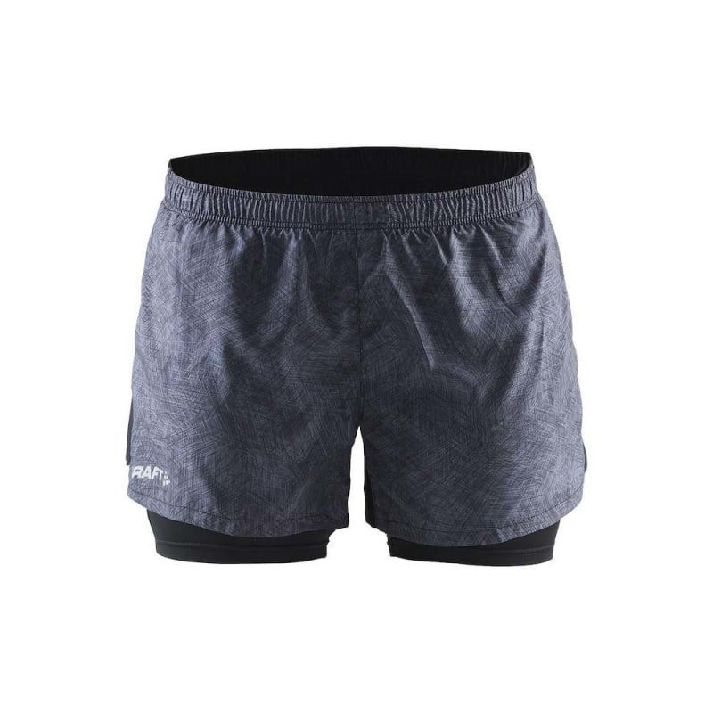 Craft Focus 2-1 Shorts W XL P Line Black