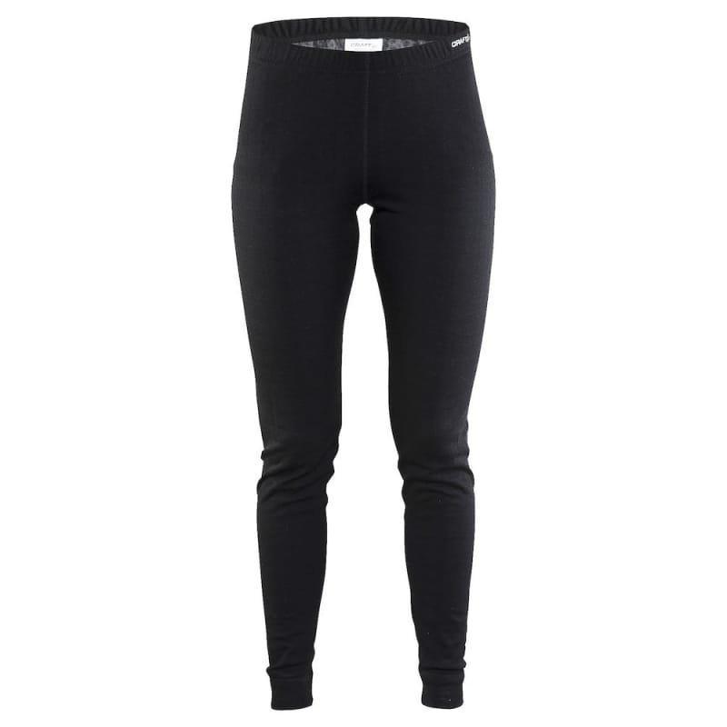 Craft Nordic Wool Pants W L Black/Dark Grey Melange