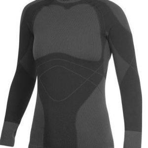 Craft Warm Crewneck naisten aluspaita musta/tumman harmaa