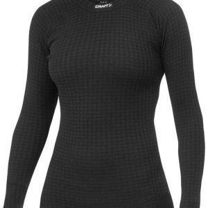 Craft Warm Wool Crewneck naisten aluspaita musta