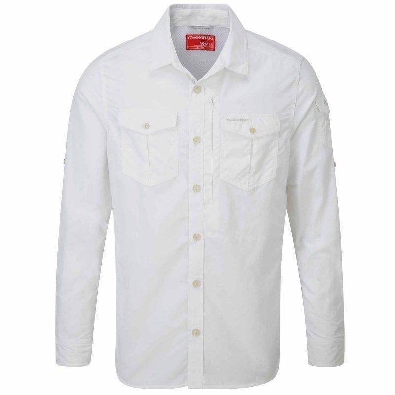 Craghoppers Nosilife Adventure LS Shirt Valkoinen XL