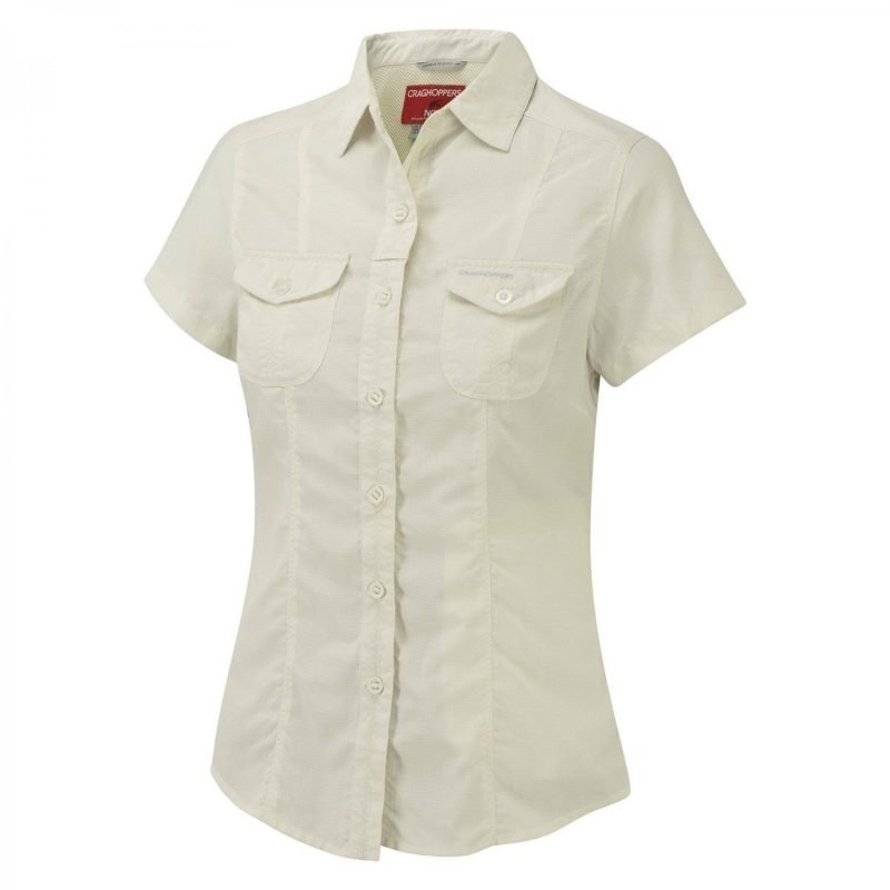 Craghoppers Nosilife Darla SS Shirt Valkoinen 18