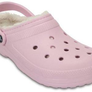 Crocs Classic Fuzz Lined Clog Pink USM 4