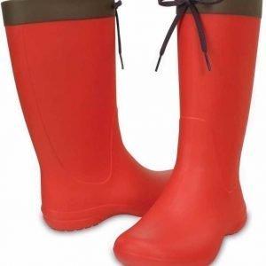 Crocs Freesail Rain Boot Women's Flame USW 5