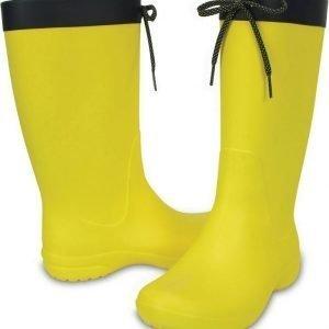 Crocs Freesail Rain Boot Women's Lemon USW 7