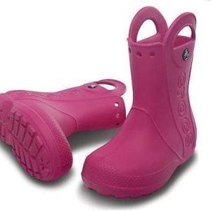 Crocs Kids Handle It Rain Boot Fuksia C8