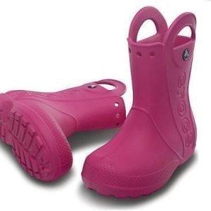 Crocs Kids Handle It Rain Boot Fuksia J2