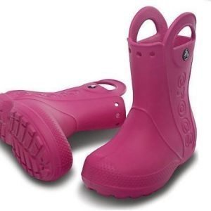 Crocs Kids Handle It Rain Boot Fuksia J3