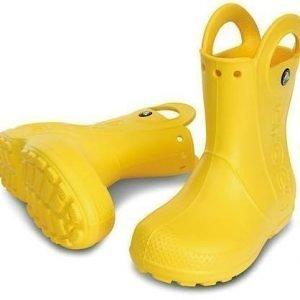 Crocs Kids Handle It Rain Boot Keltainen C10