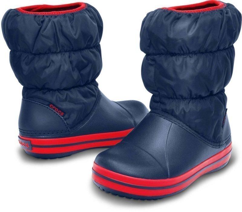 Crocs Winter Puff Boot Kids' Navy C11