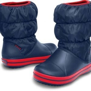 Crocs Winter Puff Boot Kids' Navy C9