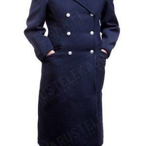 DDR rautatiepoliisin naisten mantteli tummansininen ylijäämä