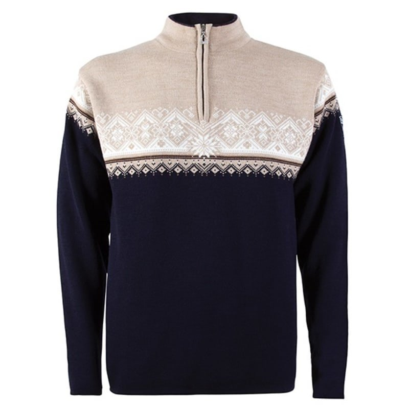 Dale of Norway St. Moritz Masculine Sweater M NAVY/BEIGE/BRONZE MEL./OFF WHI