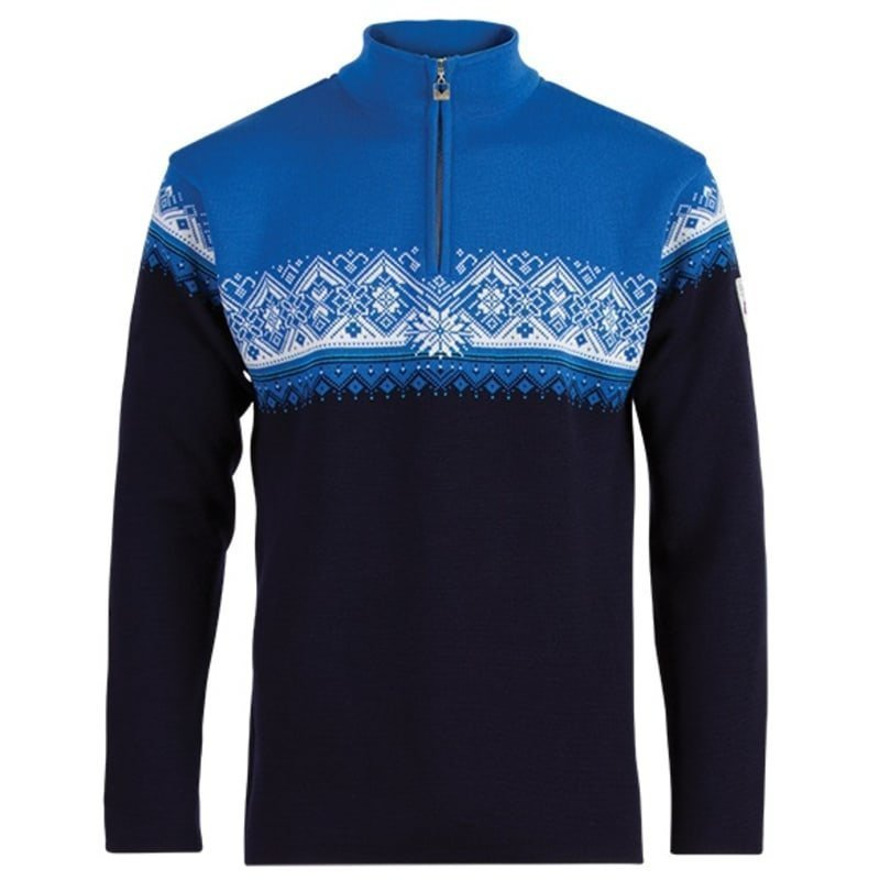 Dale of Norway St. Moritz Masculine Sweater S NAVY/SOCHI BLUE/COBALT/OFF WHI