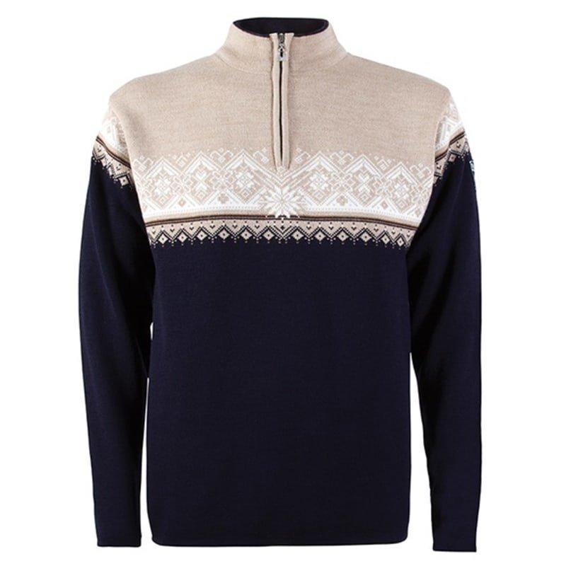 Dale of Norway St. Moritz Masculine Sweater XXL NAVY/BEIGE/BRONZE MEL./OFF WHI