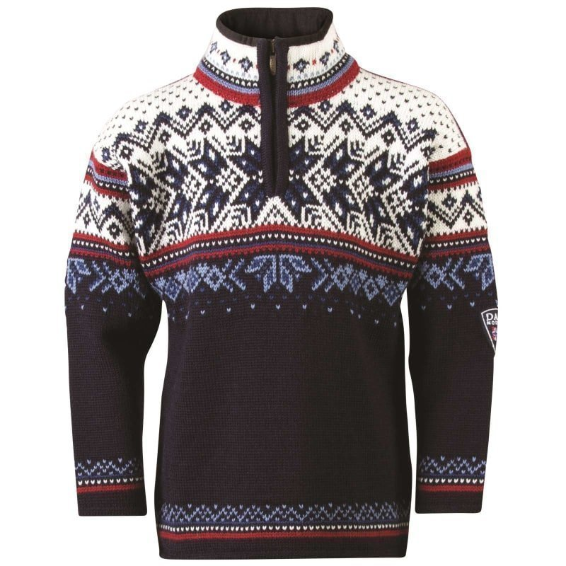 Dale of Norway Vail Kids 4 Midnight Navy/Red Rose/Off Whi