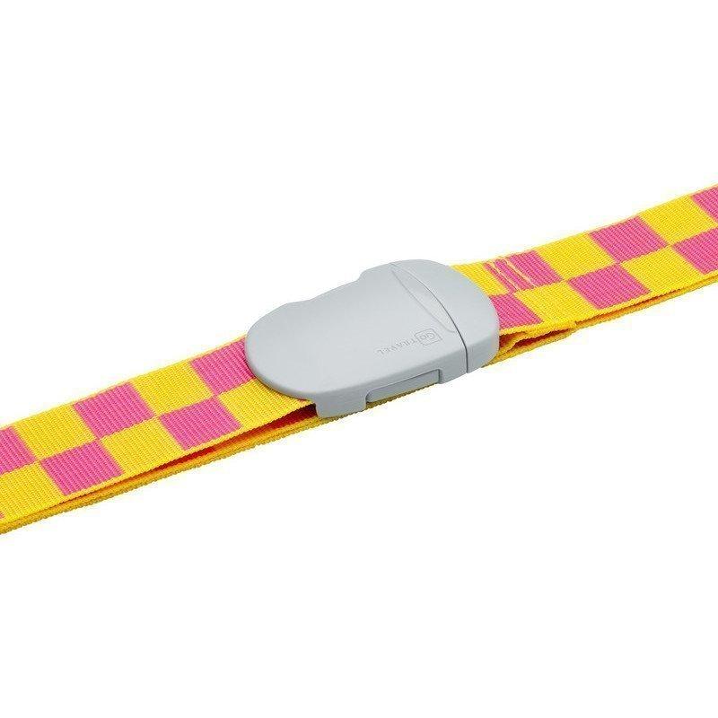 Design Go Check Strap tunnisteremmi keltainen
