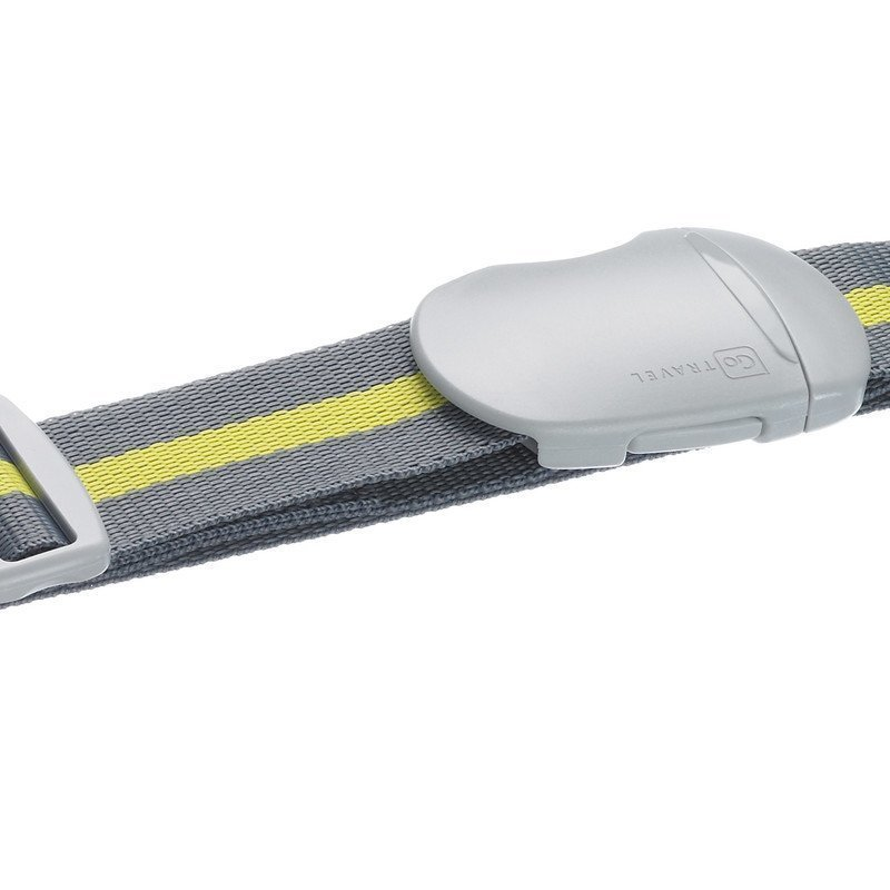 Design Go Luggage Strap tunnisteremmi harmaa