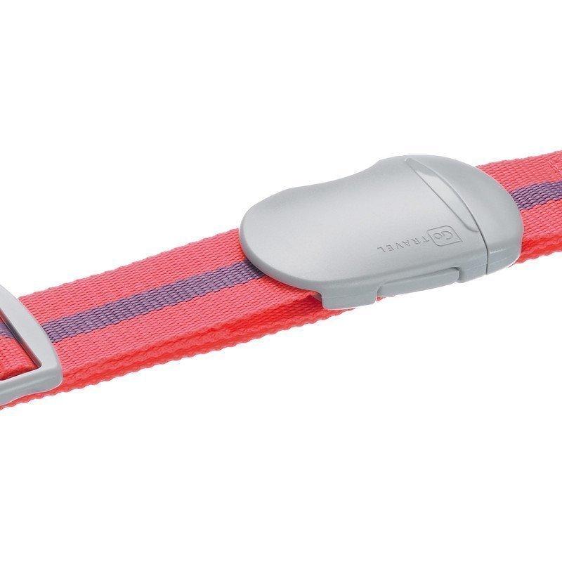 Design Go Luggage Strap tunnisteremmi pinkki