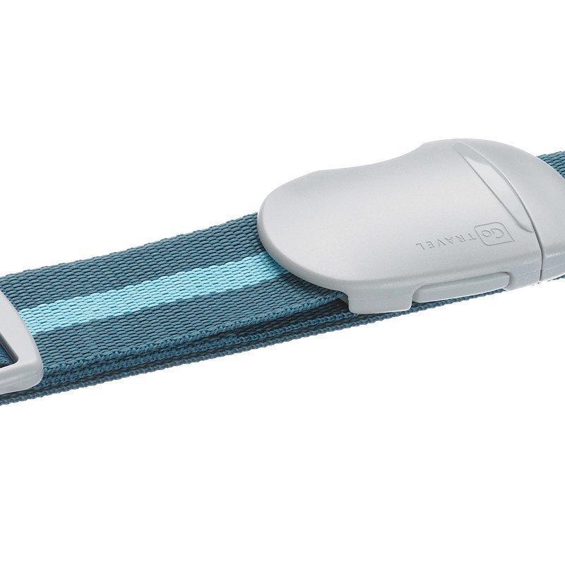 Design Go Luggage Strap tunnisteremmi sininen