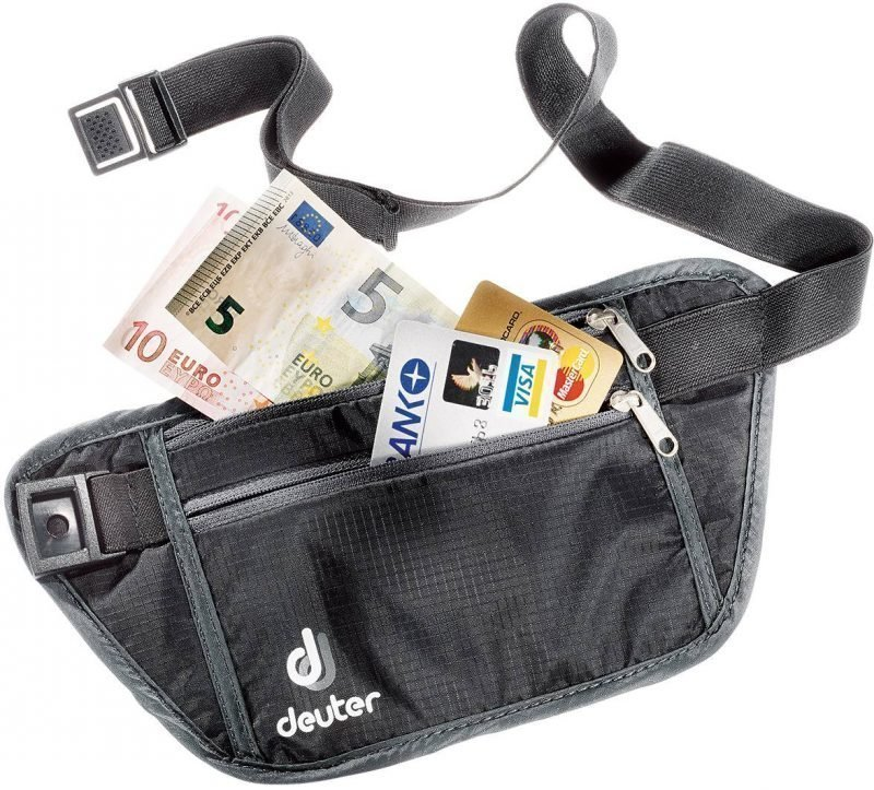 Deuter P Security Money Belt S Musta/harmaa